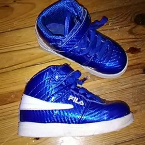 Tot Bright Blue Patent Leather High Tops ➕ Free 1